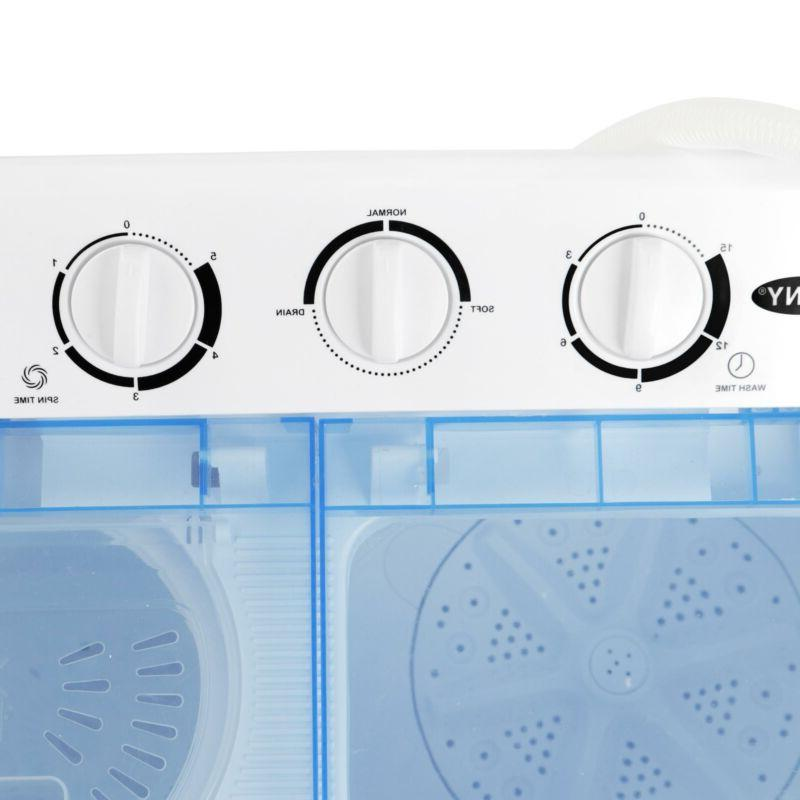 Portable Compact Twin Tub Washing Washer Spin New