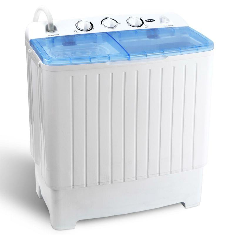 Portable Compact Twin Tub Washer XL Spinner New