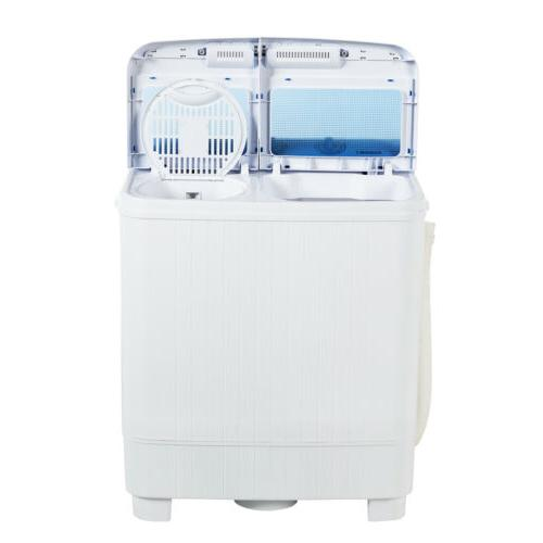 17LBS Portable Washing Machine Twin Tub Laundry Washer Spiner