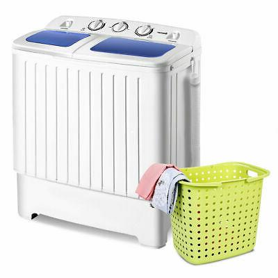 Portable Mini Washer Twin 17.6lb Spin Spinner
