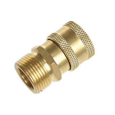 Pressure Washer Brass Adapter M22x1.5mm To Female Connector