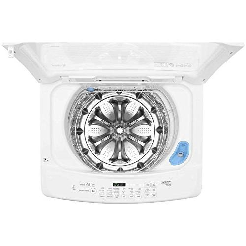 LG CU. FT. Ultra Large Load with Front Control Mode - Top - 4.50 ft Washer Capacity 1100 rpm -