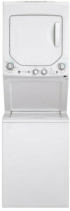 GE Unitized Spacemaker 2.0 Cuft Washer and Dryer in White Sm