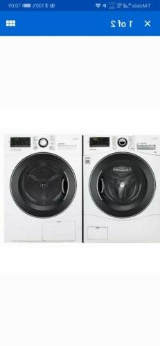 LG - WM1388HW, DLEC888W - Compact FL Washer and Stackable Ve