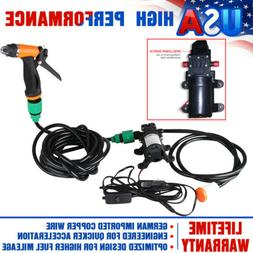 Mini Portable Electric Car Washer Kit 80W 130PSI High Pressu