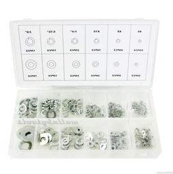 New 350PC Stainless Steel Flat Spring Washers Assortment Ste