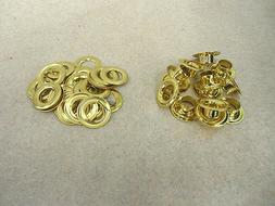 """Pack of  Solid Brass Grommet/Eyelet #4 with Washer, 1/2"""" dia"""