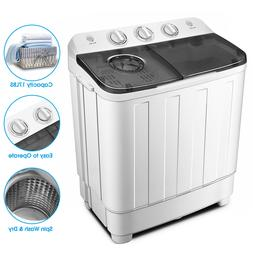 Portable 17lbs Mini Washing Machine Twin Tub Top Load Compac