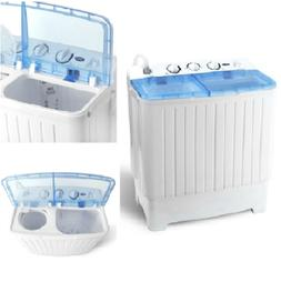 Portable Mini Compact Twin Tub 17.6lb Washing Machine Washer