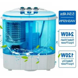 Portable 10 LBS Mini Washing Machine Compact Twin Tub Washer