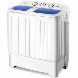 Portable Mini Washing Machine Washer Compact Twin Tub 17.6lb