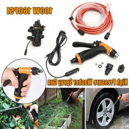 12V Portable 80W 130 PSI High Pressure Car Electric Washer H
