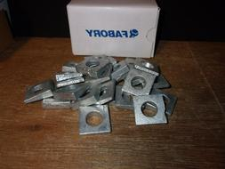 """3/4"""" Square Beveled Washers Malleable Iron Hot Dipped Galva"""