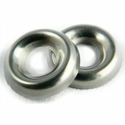 Stainless Steel Cup Washer Finishing Countersunk #6 Qty 100