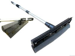 Telescopic Extendable Window Squeegee Long Handle Washer Scr