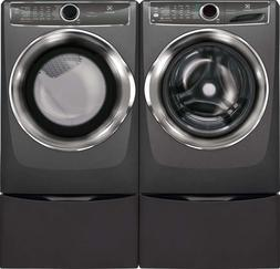 """Electrolux Front Load Laundry Pair with EFLS627UTT 27"""" Washe"""
