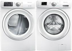 Samsung White Front Load Washer and Electric Dryer WF42H5000